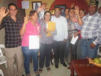Demetrio Lluberes consolida más del 90 por ciento de los votos para el comité central en Cambita Garabito