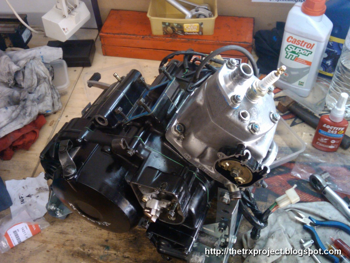 The TRX Project. The Yamaha TRX 850 blog: NSR update. Mounting the engine.