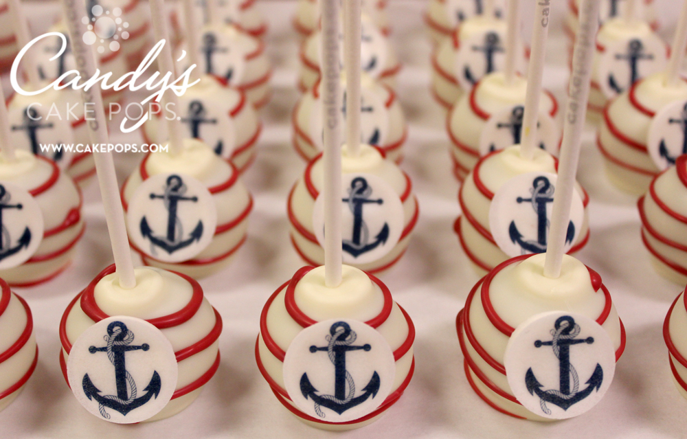 candy 39 s cake pops nautical theme cake pops anchors