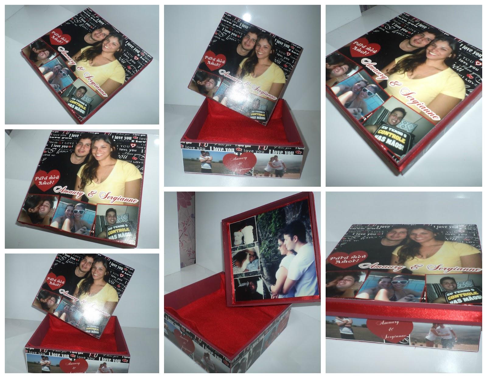 Milarts: Caixa de Madeira Personalizada com Fotos Presente Perfeito #79282B 1600x1241