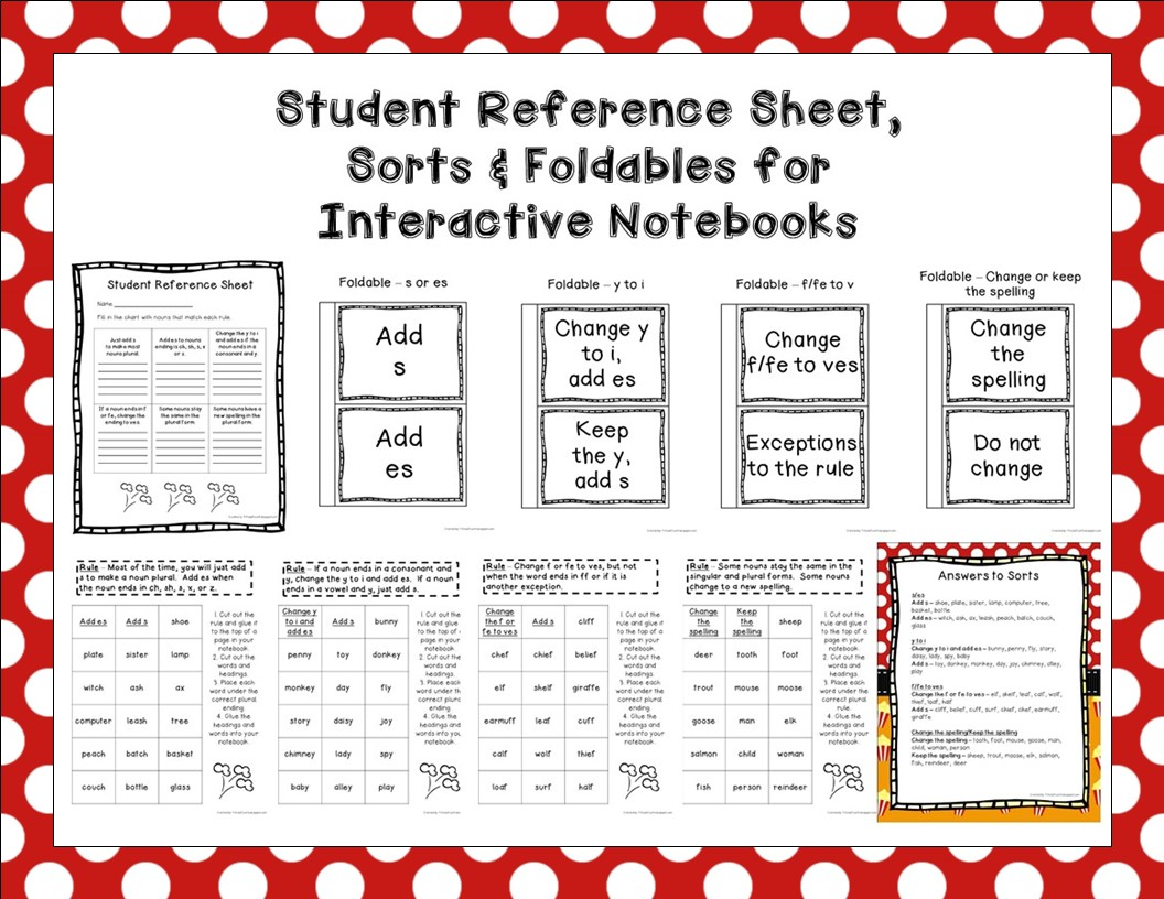 http://www.teacherspayteachers.com/Product/Plural-Nouns-Posters-Task-Cards-Sorts-Worksheets-Foldables-Assessment-1469755