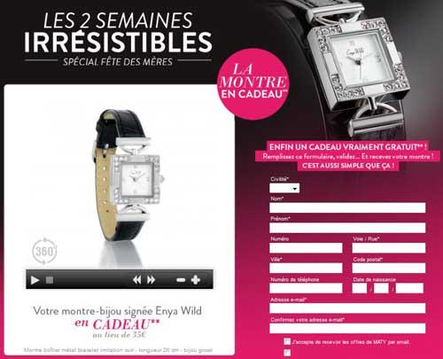 Super bon plan: 10 000 montres gratuites Maty offertes MADEMOISELLE BONS PLANS