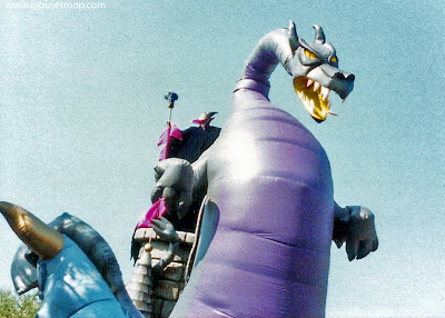 Maleficent dragon parade float balloon Flights Fantasy Disneyland