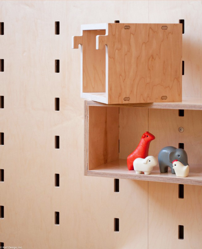 Plywood Storage System For Kids