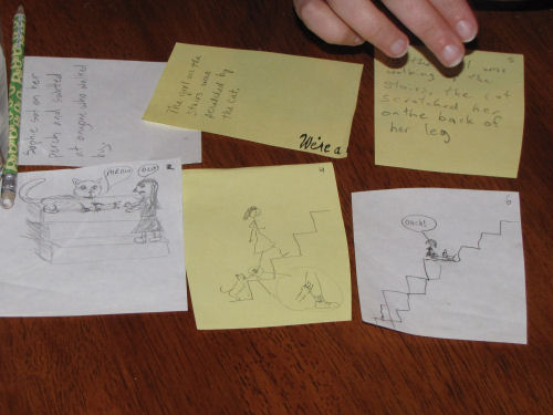 playing Telephone Pictionary