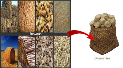 Biomass waste to white coal briquettes