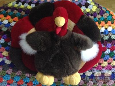 Finds & Treasures: Turkey Stuffed Animal via www.whatmandyloves.com