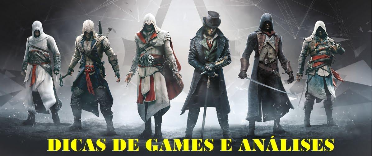 DICAS DE GAMES, ANALISES E MUITO MAIS.