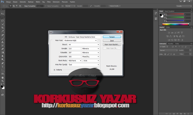 Adobe Photosop Dergi Yapımı