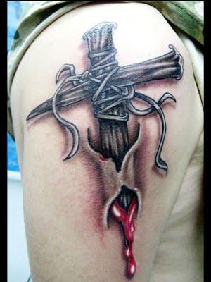celtic cross tattoos arm