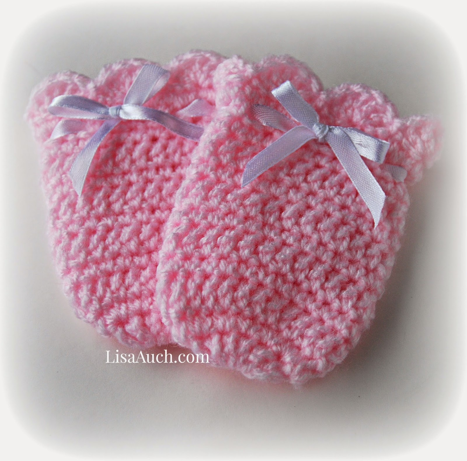 Baby Mittens Knitting Pattern 4 Needles : Crochet Baby Mittens Vintage Swing Crochet Baby Mitts A ...