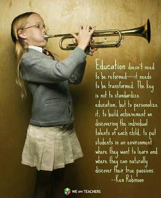 Girl Playing Horn