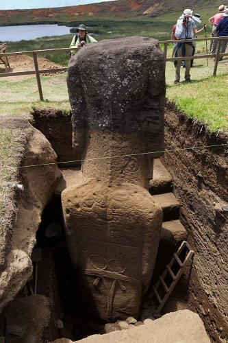 Hidden body of moai statues unsolved mysteries in the world