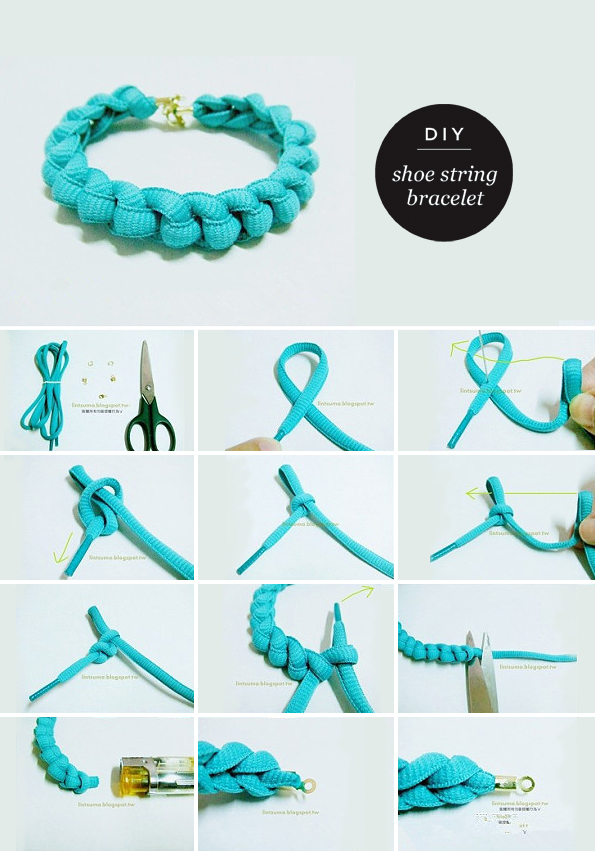 Maiko Nagao Diy Neon Bracelet With A Shoe String