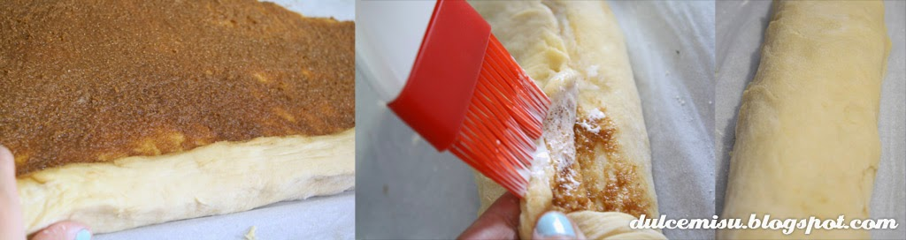 rollitos de canela con forma de corazón, rollitos de canela, canela, azúcar glas, glaseado, decoración, palito cake pop, dulcemisu, postre, merienda, desayuno, dulce