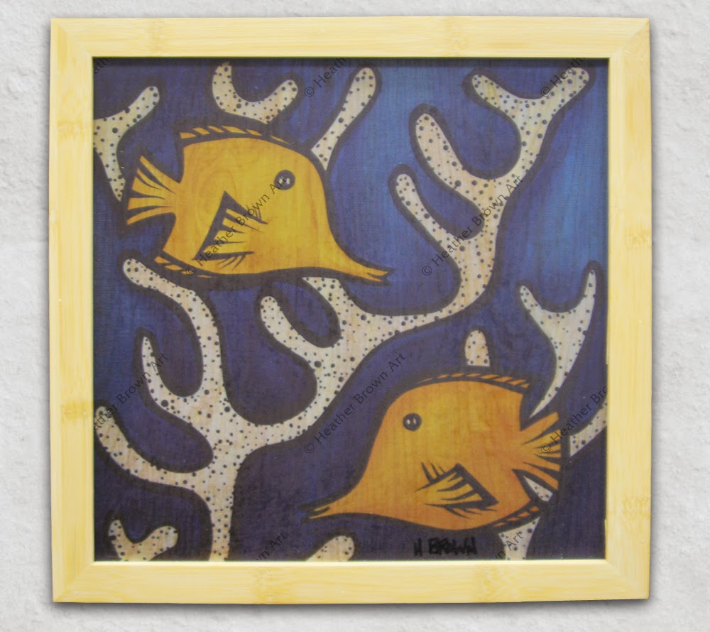 fish art heather brown