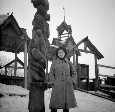 Казанский парк Черное озеро, деревянная крепость - детский городок