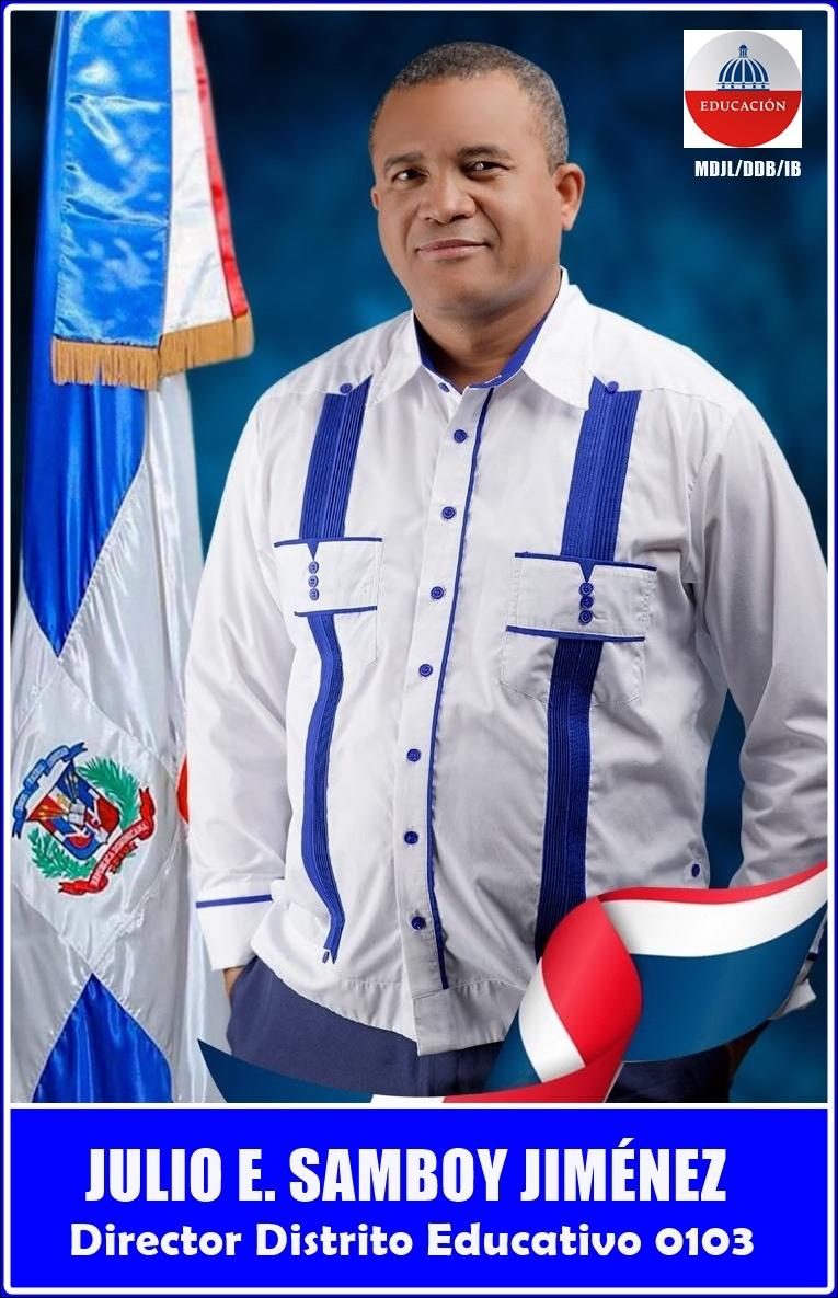 JULIO ERNESTO SAMBOY JIMÉNEZ, Director Distrito Educativo 0103