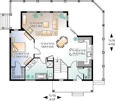 Planos arquitectonicos planos for Medidas de muebles en planta