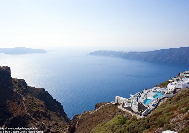 Les plus beaux hotels design du monde h tel grace for Grace hotel santorin