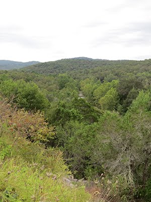 The Ozarks have thick and rocky terrain ...