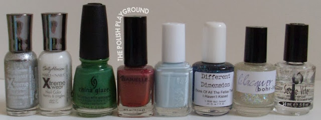 Sally Hansen, Barielle, Essie, Different Dimension, Lilacquer, Seche Vite