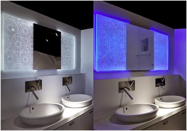 lighting for bathroom mirror. Awesome Bathroom Mirrors 3d Back Light Design Lighting For Mirror