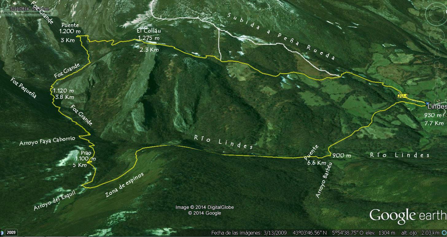 Mapa 2 - Ortográfico Hayedo de Lindes en detalle