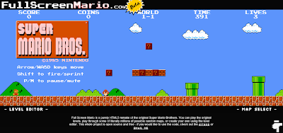 Full Screen Mario - HTML5 Super Mario Game