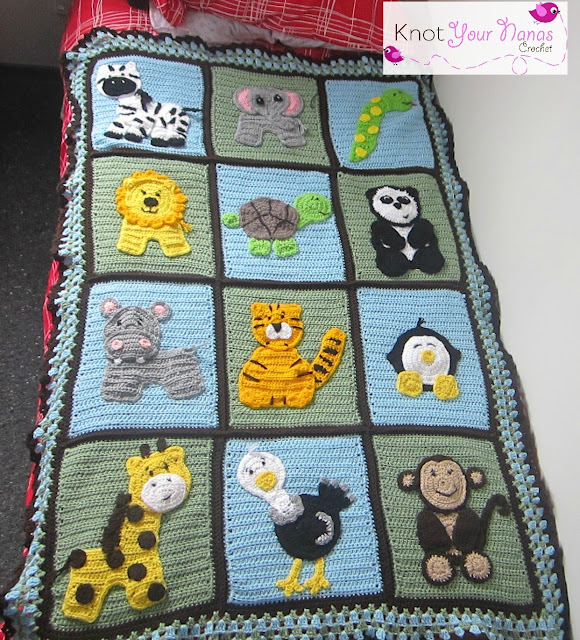 Knot Your Nanas Crochet: Zoo Blanket