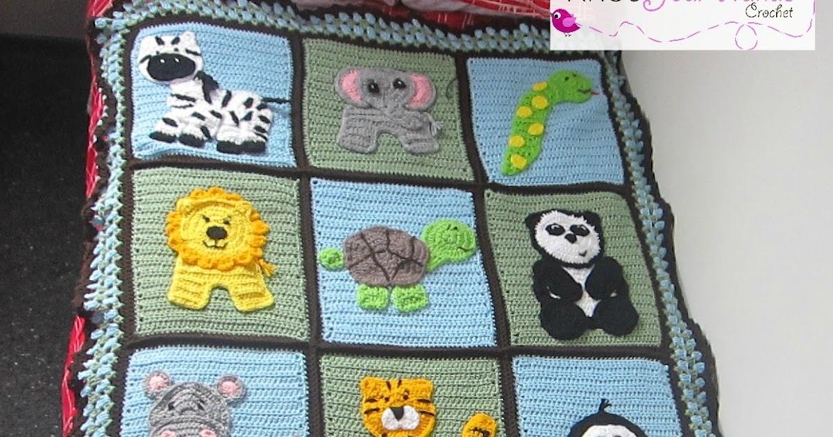 Knot your nanas crochet: zoo blanket