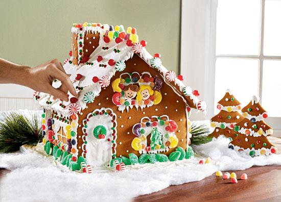 Gingerbread House Birthday Cake