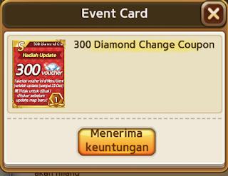 Cara Mendapatkan Kupon Voucher 300 Diamond Get Rich Hadiah Maintenance cover