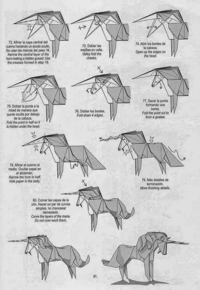 Оригами как сделать единорога из 194