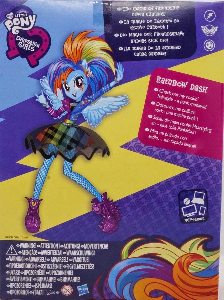 Backcards Of Rockin Hair Fluttershy Rainbow Dash And Twilight - Rockin hairstyles dolls