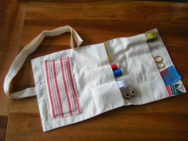 Pocket Sewing Kit - open