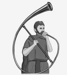 Playing Wind instruments : cornu