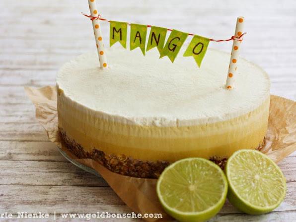 [Übern Tellerrand] Veganer Mango Macadamia Cheesecake im Ombre-Look