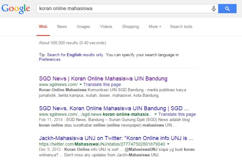 Koran Online Mahasiswa