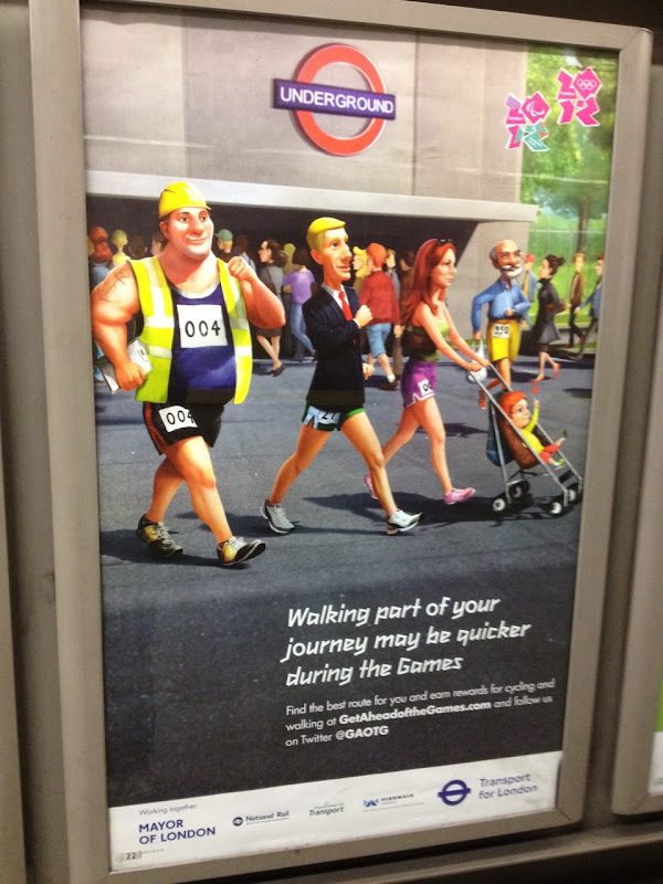 London Underground Olympics transport walk poster