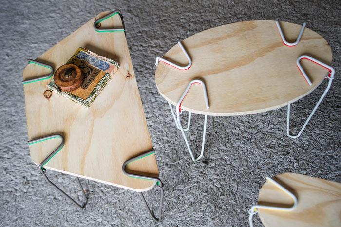 SNAP: Transforma casi cualquier objeto plano en una mesa. Sin necesidad de herramientas.