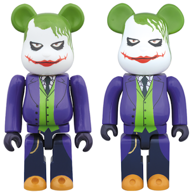 The Dark Knight The Joker 100% & 400% Be@rbrick Vinyl Figures by Medicom
