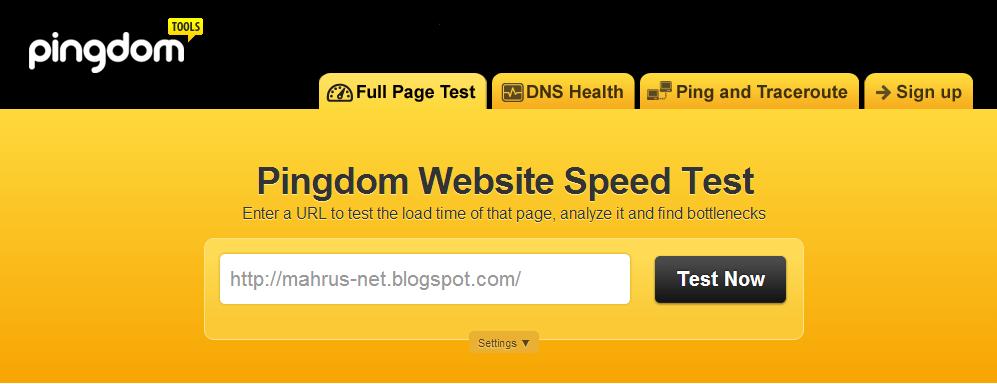 Cek loading blog Pingdom Tools by Pingdom