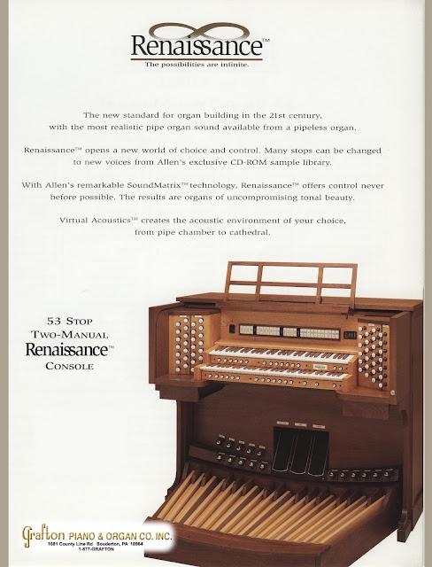 Front brochure of used Allen Organ R-281