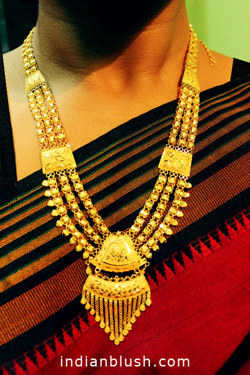 Bridal gold necklace with price