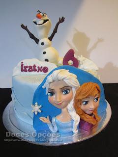Bolo de aniversário Frozen para o 6.º aniversário da Iratxe