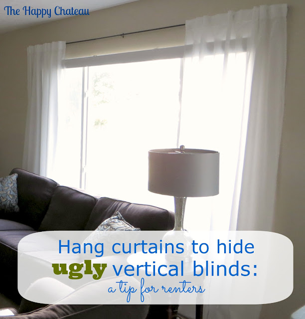 The Happy Chateau Disguising Ugly Vertical Blinds With