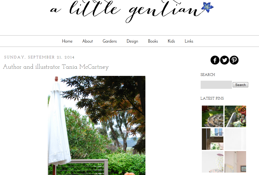 http://www.alittlegentian.blogspot.com.au/2014/09/author-and-illustrator-tania-mccartney.html
