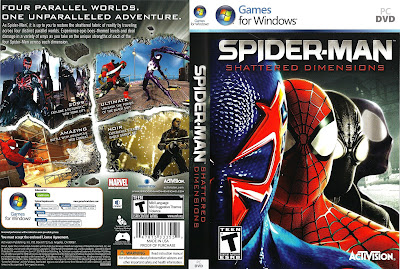 Jogo Spider-Man Shattered Dimensions PC DVD Capa