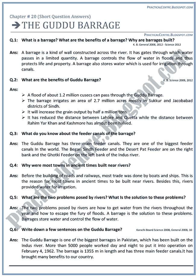 the-guddu-barrage-questions-answers-english-ix